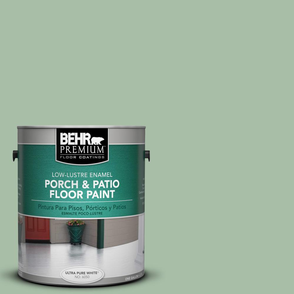 1 gal. #S400-4 Azalea Leaf Low-Lustre Porch and Patio Floor Paint