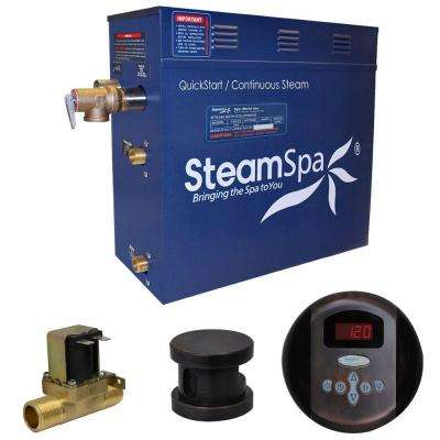 Oasis 9kW QuickStart Steam Bath Generator Package with Built-In Auto Drain in Oil Rubbed Bronze