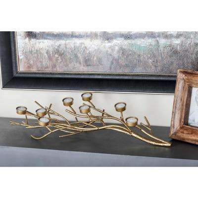 5 in. Gold Iron Branch Candle Holder