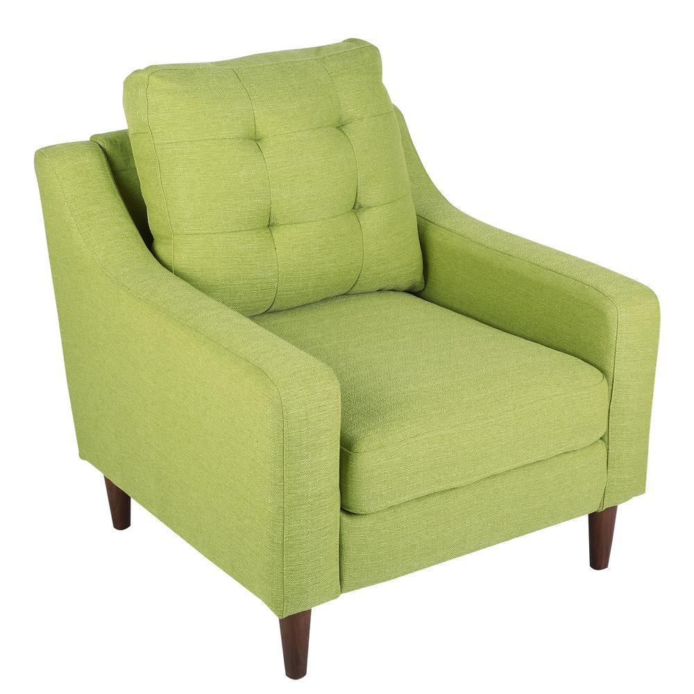 Maverick Mid Century Green Modern Upholstered Arm Chair