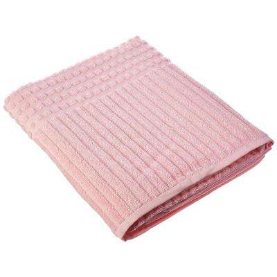 Piano Collection 39 in. W x 59 in. H 100% Turkish Cotton Luxury Bath Sheet in Pink (Set of 2)