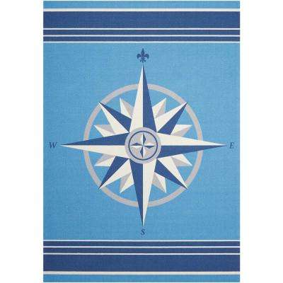 Sailing Blue 5 ft. x 7 ft. Indoor/Outdoor Area Rug