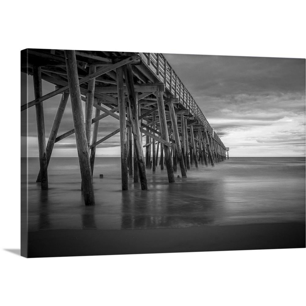 Black and white seaside by dream on photography canvas wall art