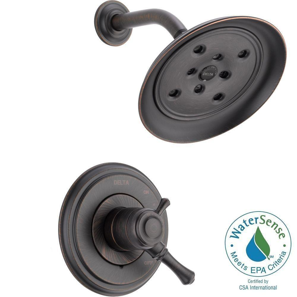 Cidy 1 Handle Shower Only Faucet Trim Kit In Venetian Bronze Valve