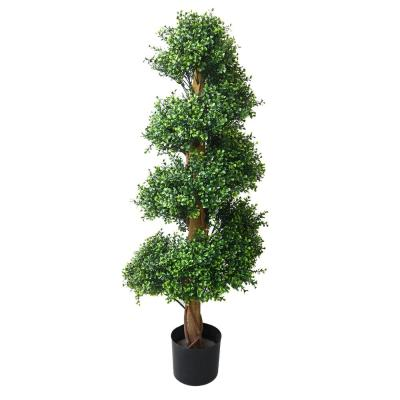 48 in. Artificial Boxwood Spiral Tree