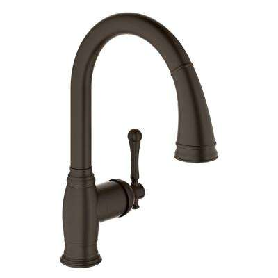 Bridgeford Single-Handle Pull-Down Sprayer Kitchen Faucet with Dual-Spray in Oil Rubbed Bronze