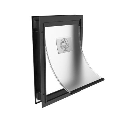 Large Deluxe Aluminum Pet Door for Dogs, Adjustable Tunnel for Walls and Screens up to 2.8 in.
