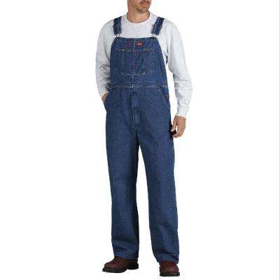 Men's 4X-Large Stonewashed Indigo Blue Bib Coveralls