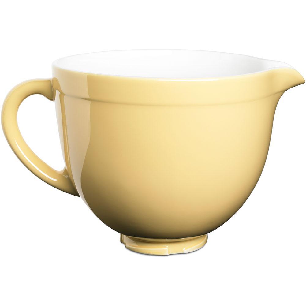5 qt. Tilt-Head Ceramic Bowl in Majestic Yellow
