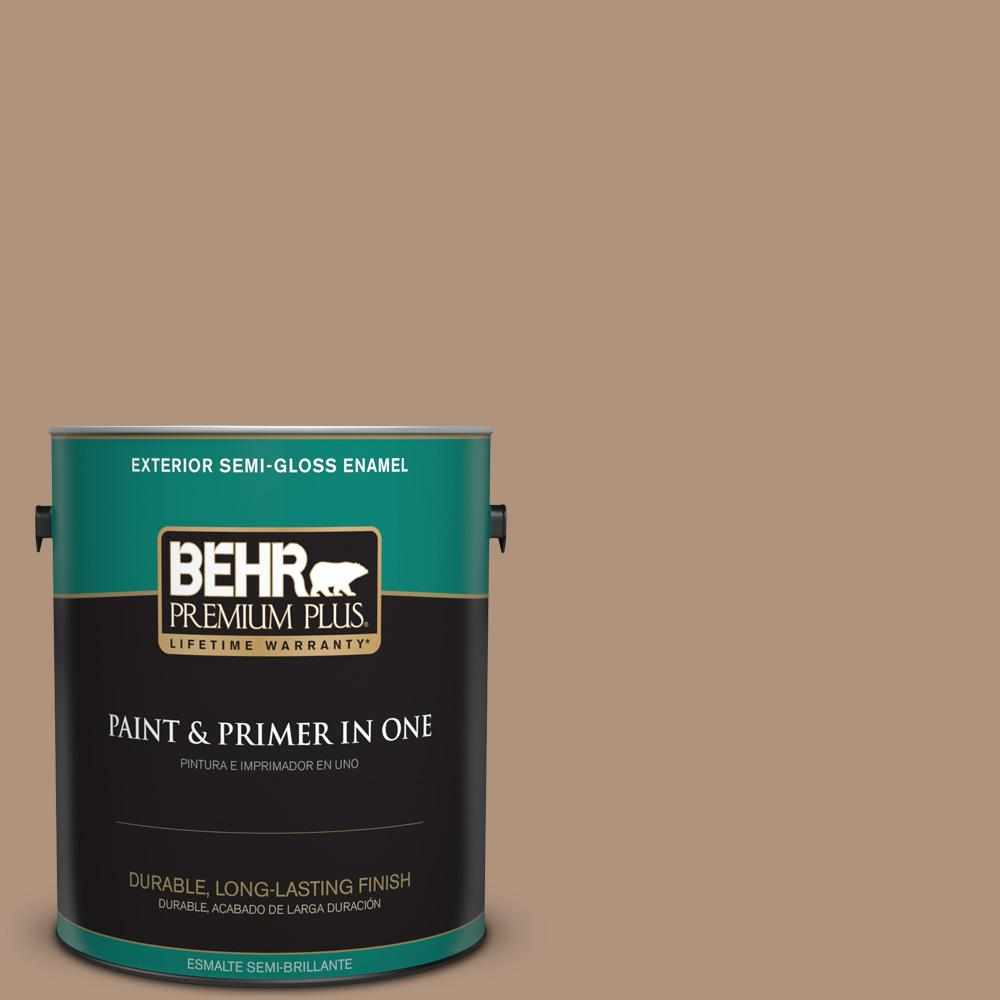 1 gal. #PPU4-04 Soft Chamois Semi-Gloss Enamel Exterior Paint