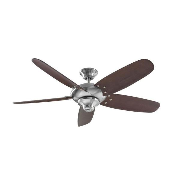 Home Decorators Collection Altura 56 In Indoor Brushed Nickel Ceiling Fan With Remote Control 26656 The Home Depot