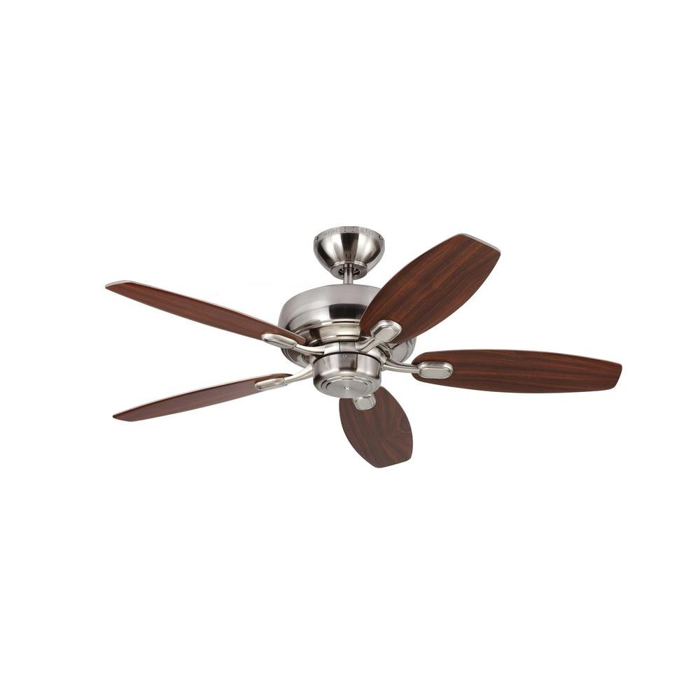 Monte Carlo Centro Max II 44 in. Brushed Steel Silver Ceiling Fan