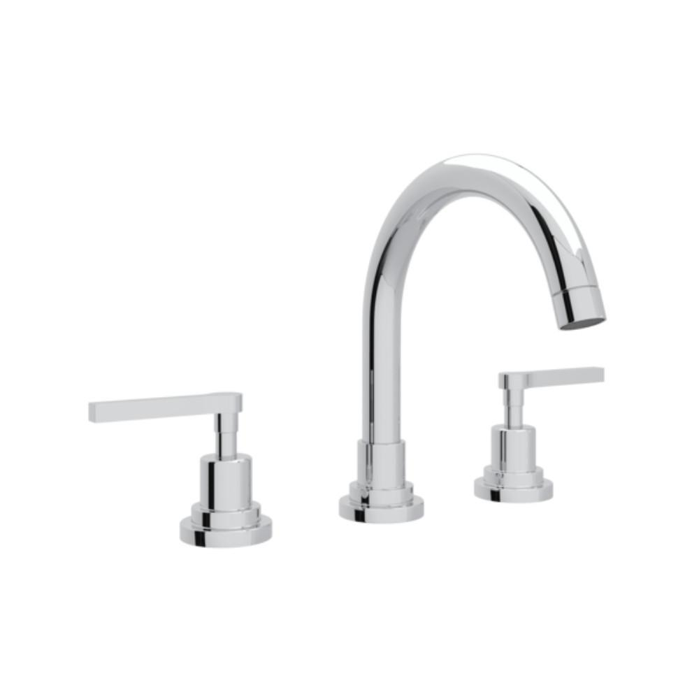 Rohl Lombardia 8 In. Widespread 2-Handle Bathroom Faucet In Polished Chrome-A2228LMAPC-2