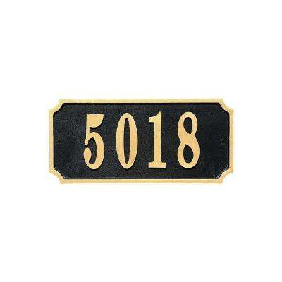 Waterford Rectangle Cast Aluminum Address Plaque