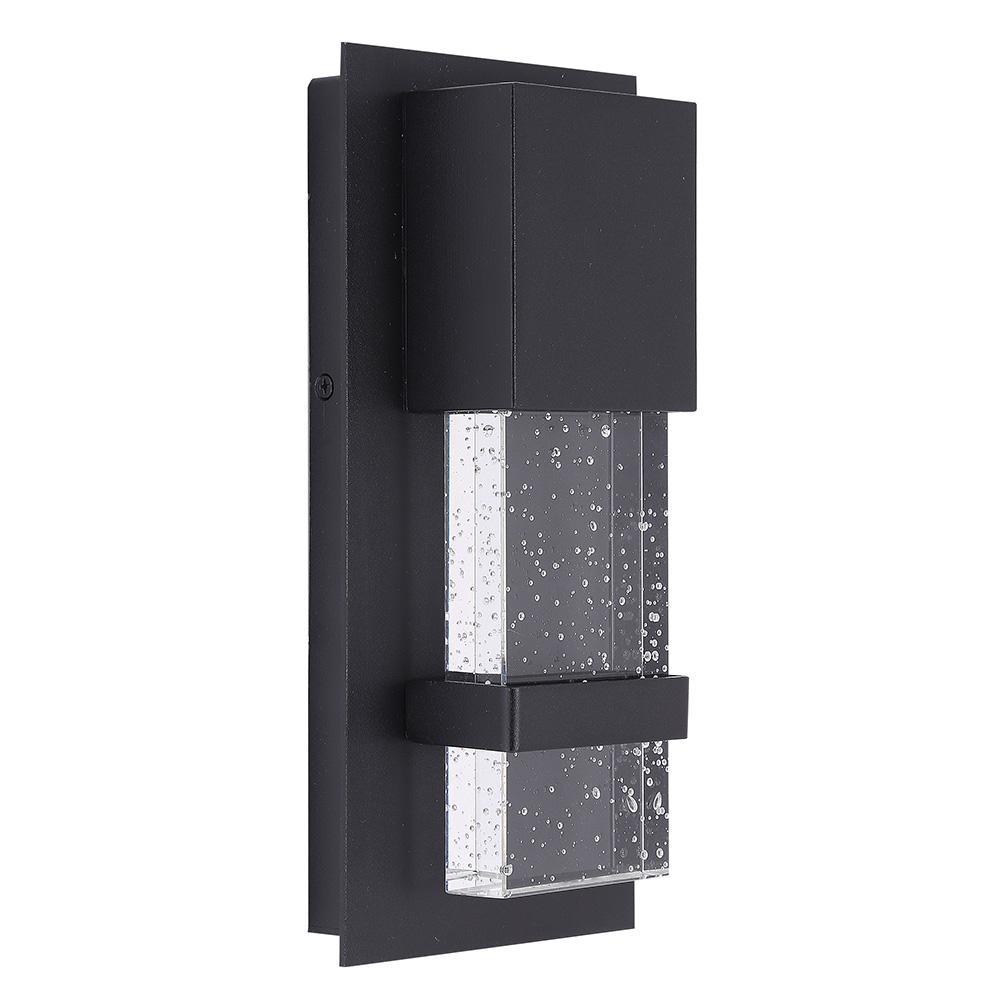 Venecia 1-Light Matte Black Outdoor Integrated LED Wall Mount Lantern