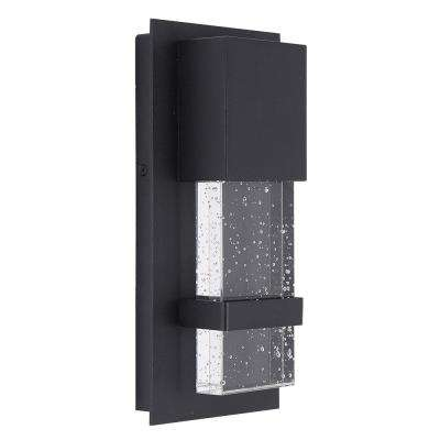 Venecia 1-Light Matte Black Outdoor Integrated LED Wall Mount Lantern