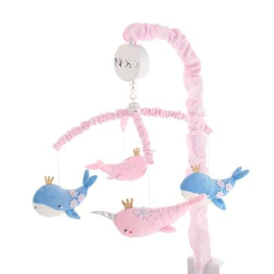 Under the Sea Whimsy Pink and Blue Whales and Narwhals Musical Mobile