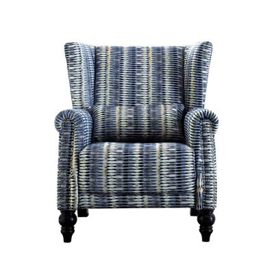 Striped Polyester Nailhead Trim Wingback Chair