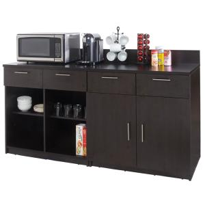 Coffee Kitchen Espresso Sideboard with Practical Lunch Break Room Functionality with Fully Assembled... by