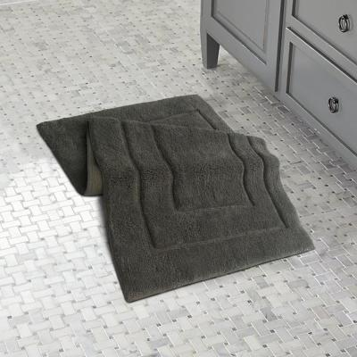 Classic Platinum Gray 45 in. x 27 in. Bath Rug