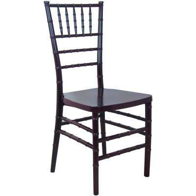 Mahogany Monoblock Resin Chiavari Chair