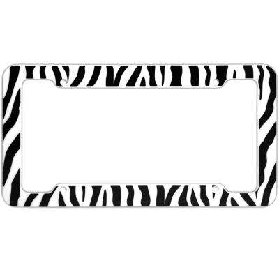 Zebra White and Black License Plate Frame