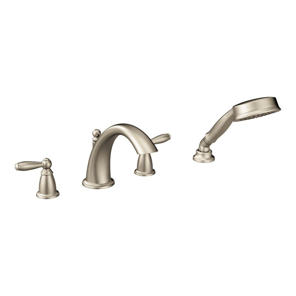 replace roman tub faucet. Brantford 2 Handle Deck Mount Roman Tub Faucet Trim Kit with Hand Shower Pfister Kenzo in