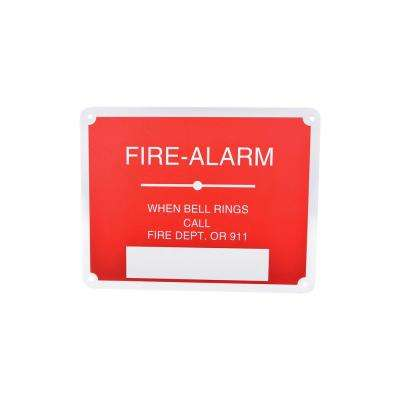 7 in. x 9 in. Aluminum Fire Safety Sign Fire Alarm When Bell Rings Call Fire Dept Or 911
