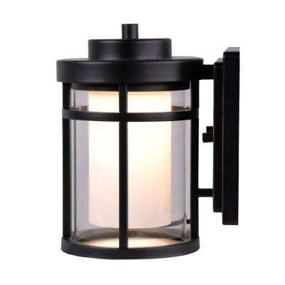 Black Outdoor LED Small Wall Light