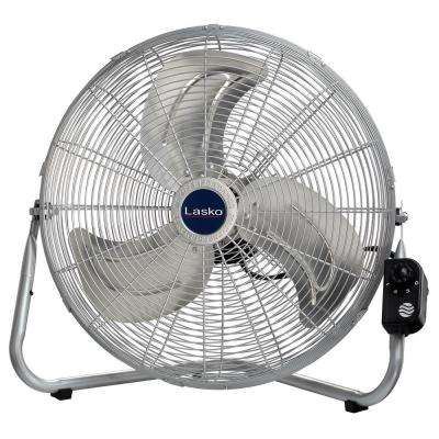 20 in. High-Velocity Floor or Wallmount Fan in Chrome