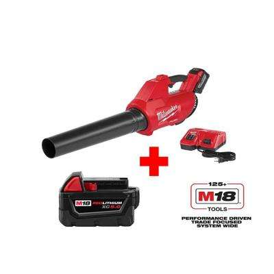 M18 FUEL 100 MPH 450 CFM 18-Volt Lithium-Ion Brushless Cordless Blower 9.0Ah Kit with 5.0Ah Battery