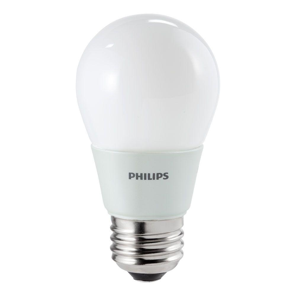 Philips 15W Equivalent Soft-White (2700K) A15 Ceiling Fan LED Light Bulb-411645  - The Home Depot - Philips 15W Equivalent Soft-White (2700K) A15 Ceiling Fan LED