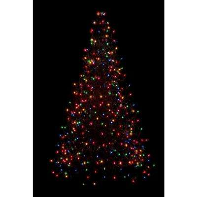 5 ft. Pre-Lit Incandescent Artificial Christmas Tree with 280 Multi-Color  Lights - Multi Colors - Pre-Lit Christmas Trees - Artificial Christmas Trees