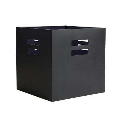 12.5 in. x 12.5 in. Black Plastic Storage Crate Drawer