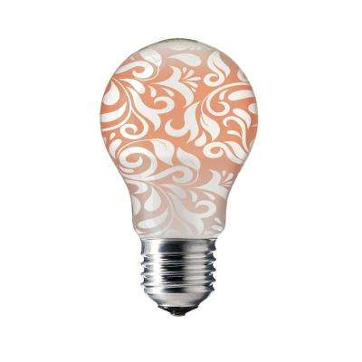 60-Watt Equivalent Soft White A19 LED Damask Dynasty Accent Light Bulb
