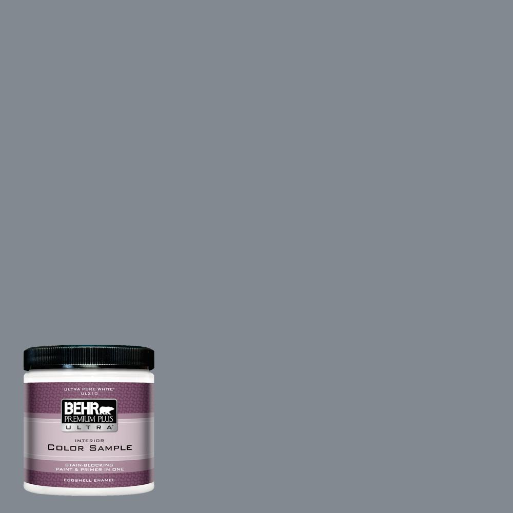 BEHR Premium Plus Ultra 8 oz. #PPU26-21 Overcast Eggshell Enamel Interior Paint and Primer in One Sample
