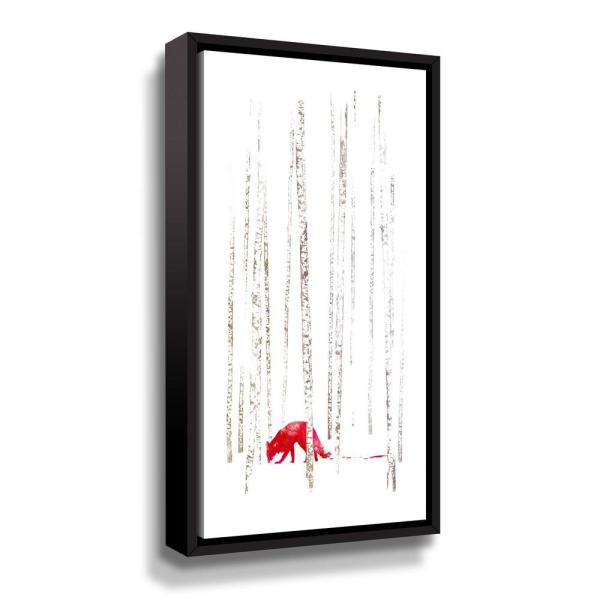ArtWall 'There's nowhere to run' by Robert Farkas Framed Canvas