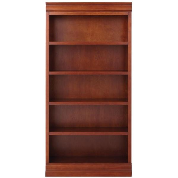 73 in. Sequoia Wood 5-shelf Standard Bookcase with Adjustable Shelves