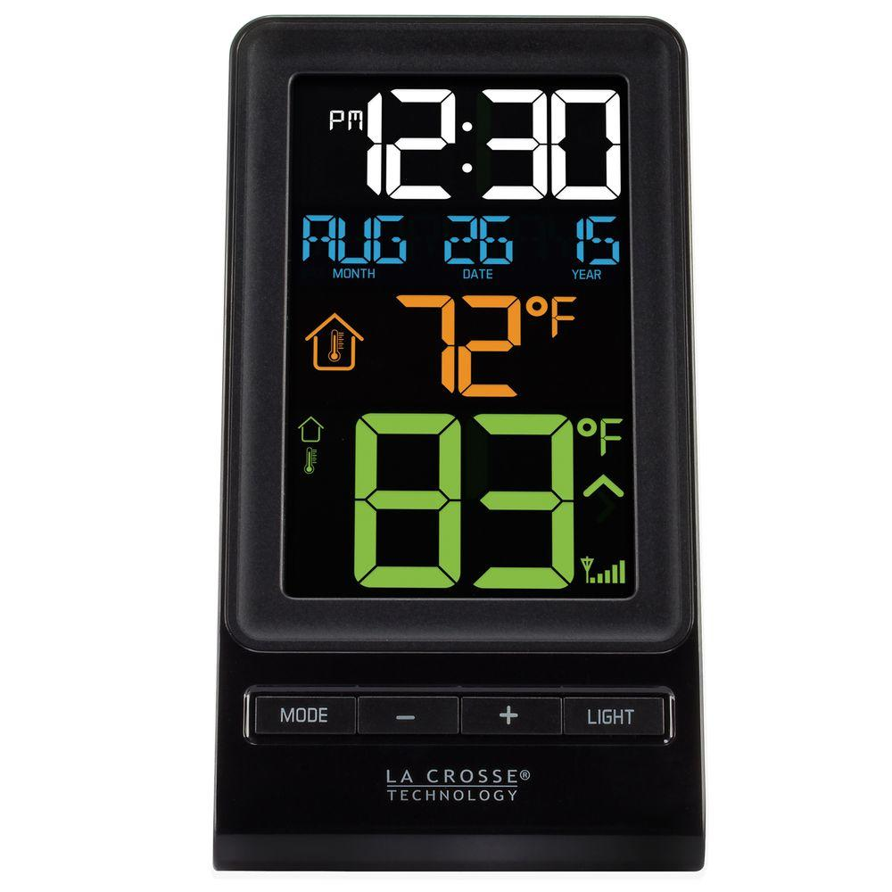 La Crosse Technology Color Digital Wireless Thermometer And Time 308 Led For Temperature Measurement