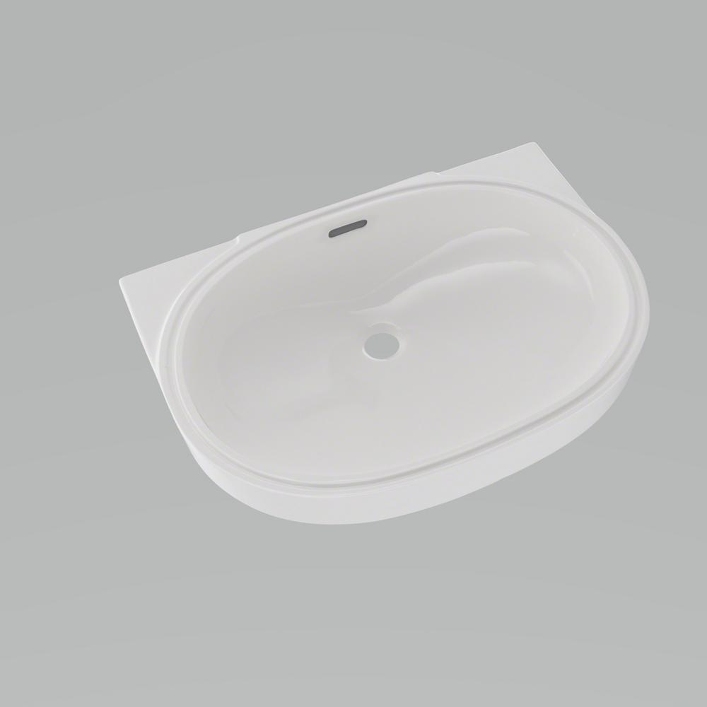 Toto 20 In Oval Undermount Bathroom Sink With Cefiontect In Colonial White Lt546g 11 The Home