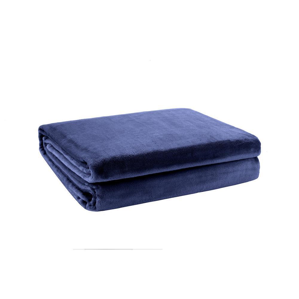 Velvet Foot Pocket Throw in Dark Gray