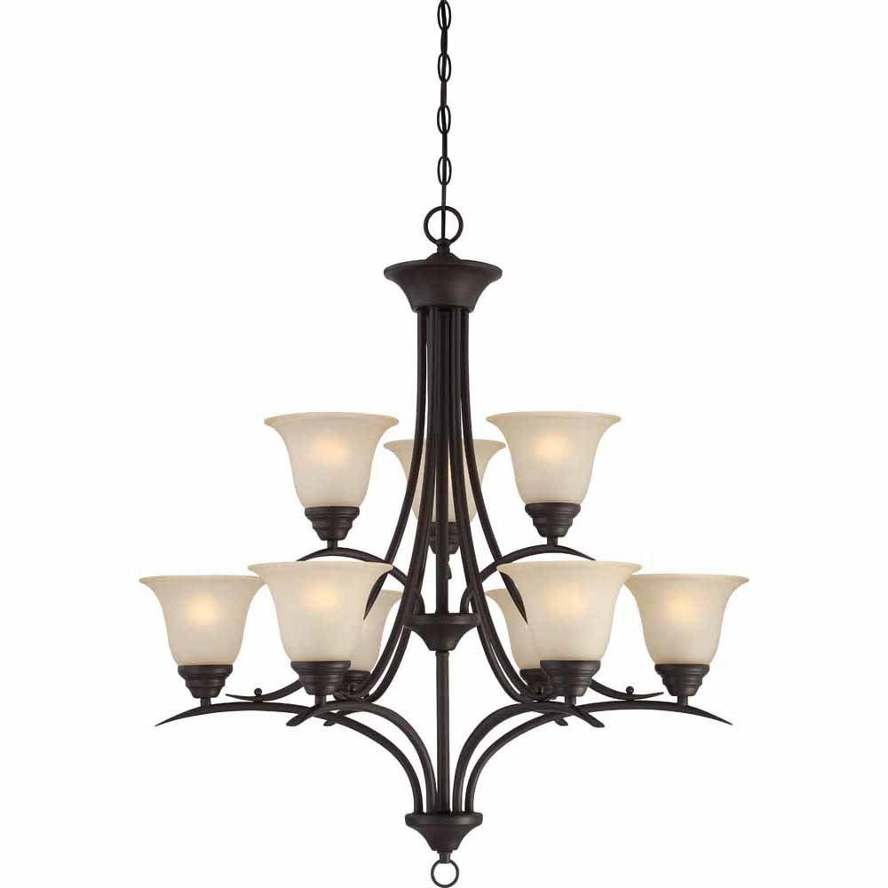 Filament Design Lenor 3-Light Antique Bronze Incandescent Ceiling Chandelier