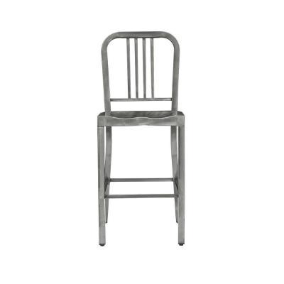 Kipling Gunmetal Gray Metal Counter Stool with Back (16.54 in. W x 38.98 in. H)