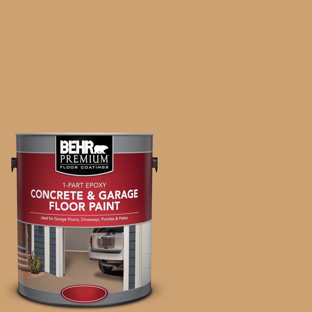 1 gal. #PFC-29 Gold Torch 1-Part Epoxy Satin Interior/Exterior Concrete and Garage Floor Paint