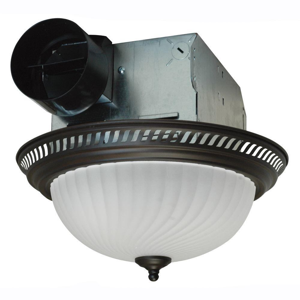 quiet bathroom exhaust fan with light broan air king decorative bronze 70 cfm ceiling bathroom exhaust fan with light