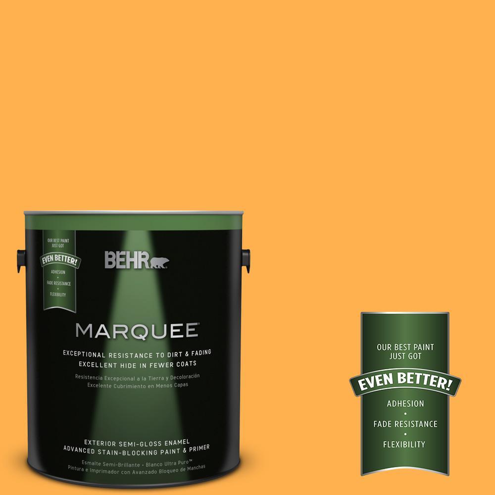 BEHR MARQUEE 1-gal. #P250-6 Splendor Gold Semi-Gloss Enamel Exterior Paint