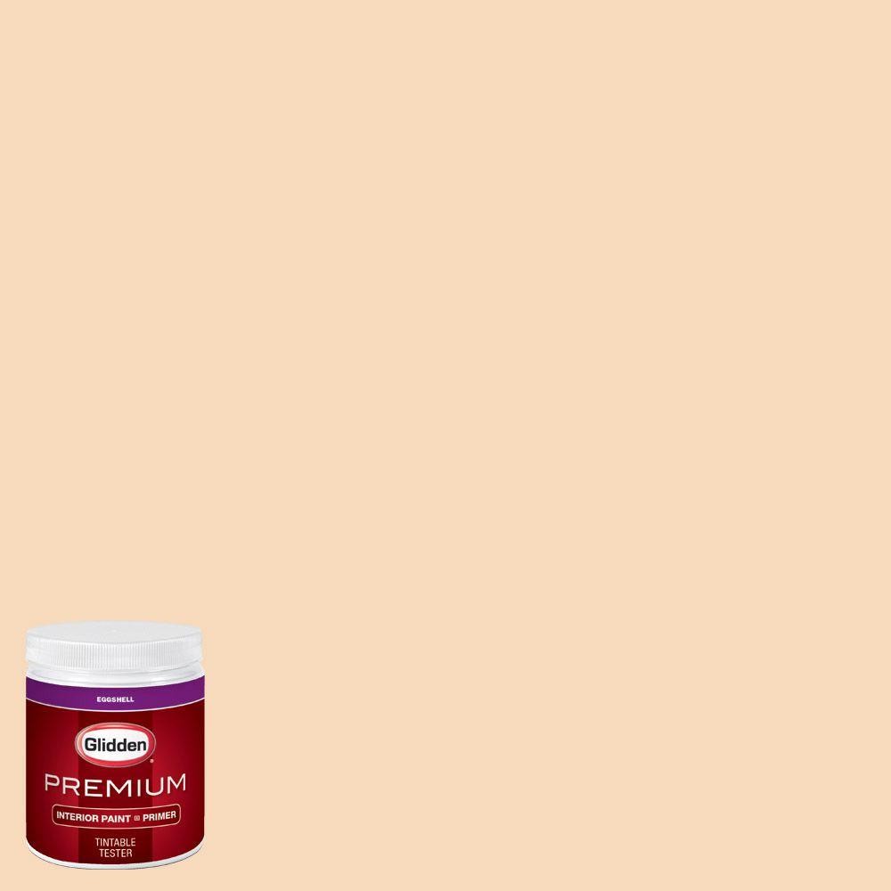 Glidden premium 8 oz hdgo31 sandy feet eggshell interior paint with primer tester hdgo31p 08en for Glidden premium interior paint reviews