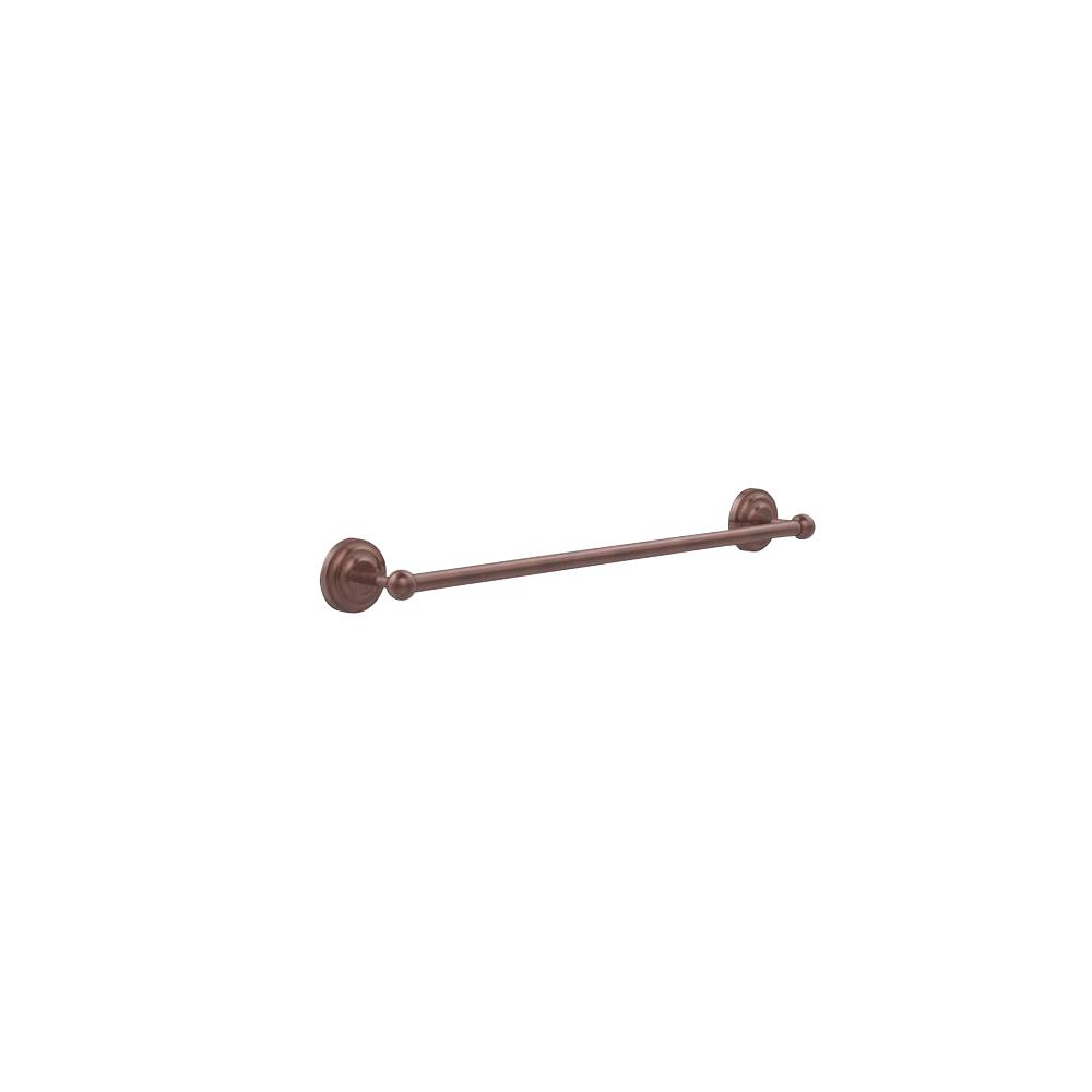 Allied Brass Que New Collection 24 in. Back to Back Shower Door Towel Bar in Antique Copper