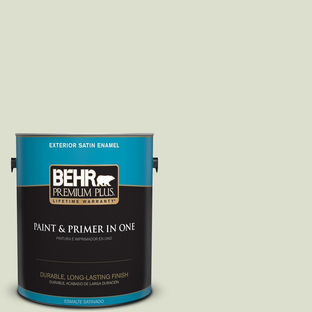 1 gal. #PPU10-15 Desert Springs Satin Enamel Exterior Paint