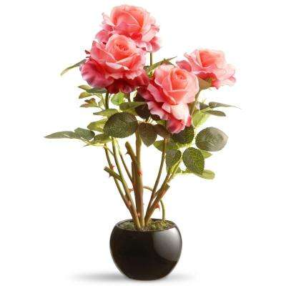 16.5 in. Pink Rose Flower